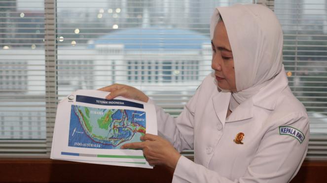 Kepala BMKG Dwikorita Karnawati Bicara Gempa Lombok