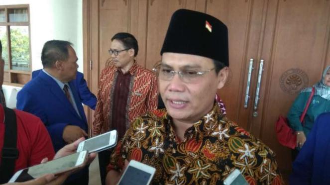 Ahmad Basarah, Wakil Sekretaris Jenderal PDIP, kepada wartawan di Malang, Jawa Timur, pada Rabu, 8 Agustus 2018.