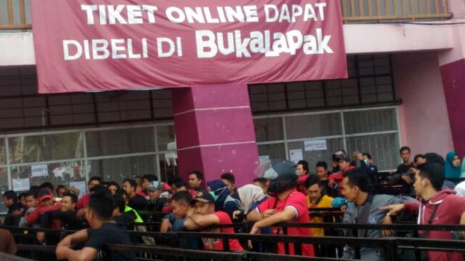 Antrean tiket Timnas Indonesia U-16 sejak Rabu 8 Agustus 2018