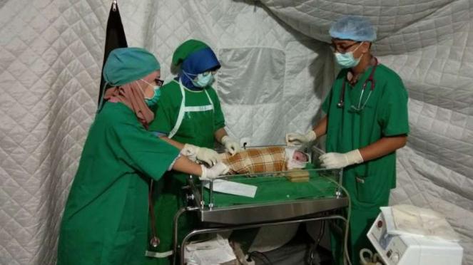 Dramatis, Operasi Cesar Ibu Muda Korban Gempa Lombok
