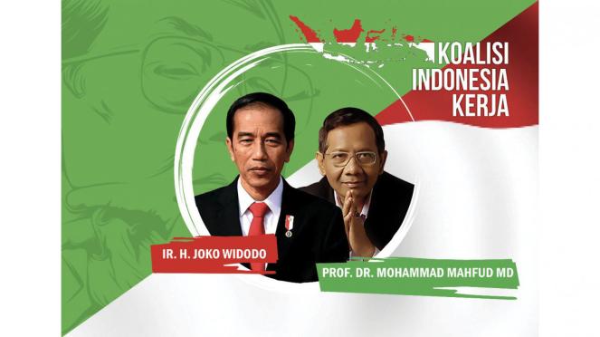 Meme Joko Widodo dan Mahfud MD beredar di sosial media