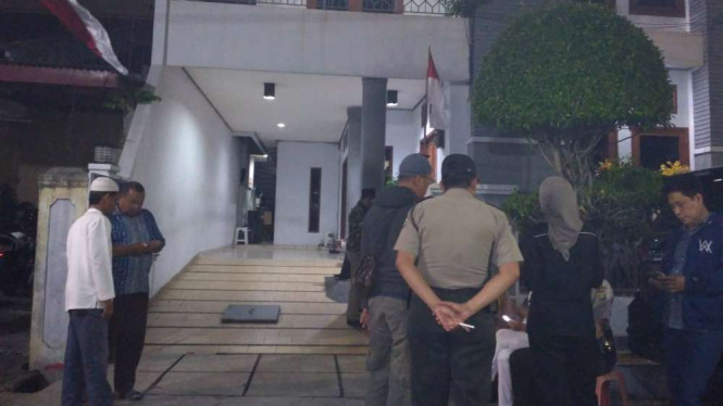 Situasi kediaman KH. Ma'ruf Amin di Koja, Jakarta Utara.