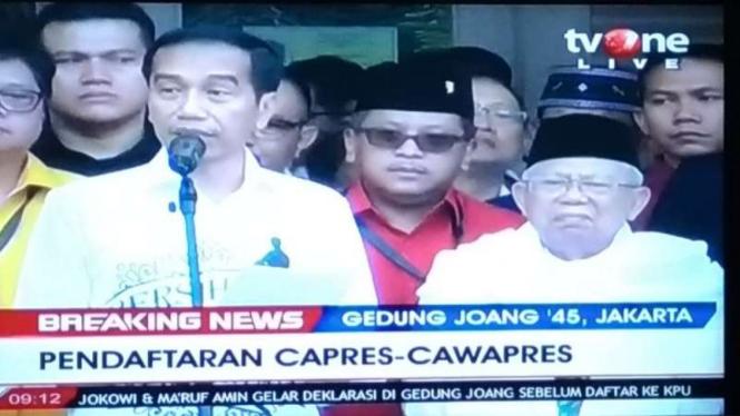Presiden Jokowi dan KH Maruf Amin