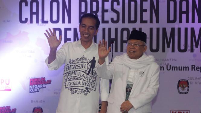 Pasangan Jokowi-Ma'ruf Amin.