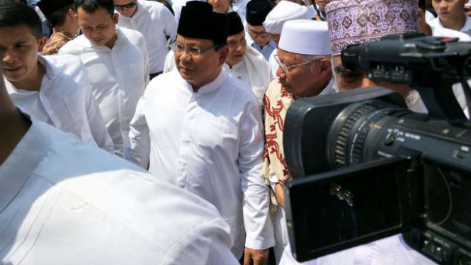 Calon Presiden 2019 Prabowo Subianto di Masjid Sunda Kelapa