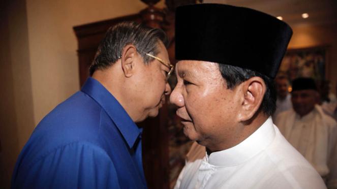 Pertemuan ketiga kalinya, SBY dan Prabowo Subianto di Kuningan, Jakarta Selatan.