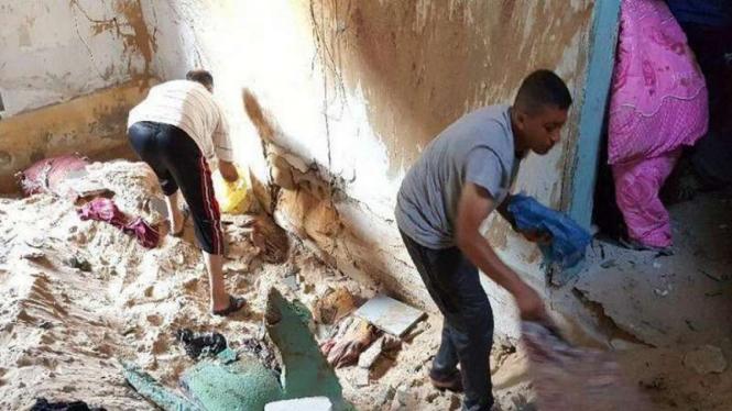 Serangan udara menghancurkan rumah warga di wilayah Gaza