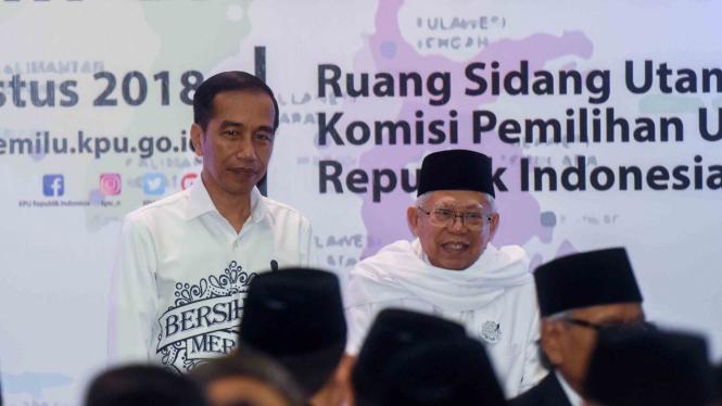 Jokowi-ma'ruf Akan Isi Debat Dengan Suasana Ceria