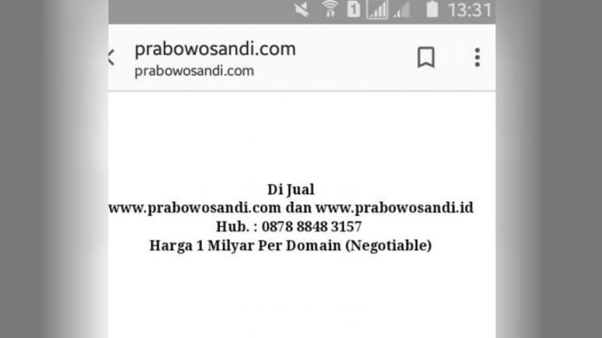 Domain Prabowosandi.com