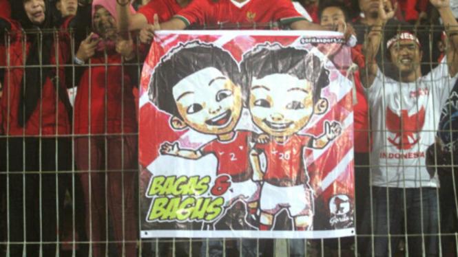 Karikatur si kembar Timnas U-16, Bagas dan Bagus, versi Upin-Ipin gondrong
