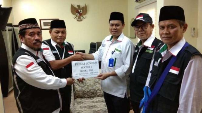 Sumbangan untuk korban bencana Lombok