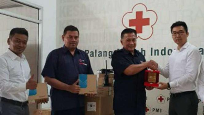 Palang Merah Indonesia dapat bantuan dari China untuk Lombok.