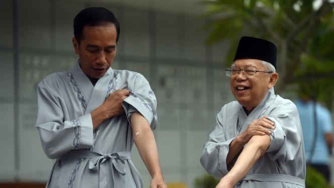 Tes kesehatan carpres dan cawapres, Joko Widodo - Ma'ruf Amin di RSPAD Jakarta