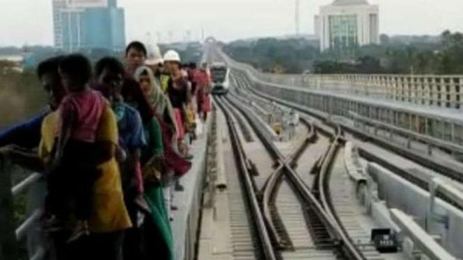 LRT di Palembang kembali mogok