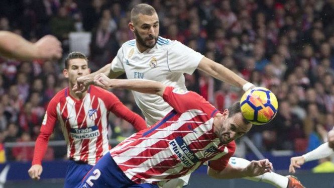 Pertandingan Real Madrid melawan Atletico Madrid