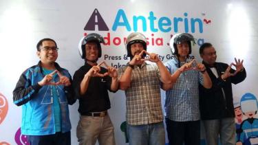Peluncuran layanan transportasi online Anterin di Jakarta.