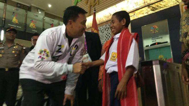 Menteri Pemuda dan Olahraga, Imam Nahrawi, bertemu dengan Joni