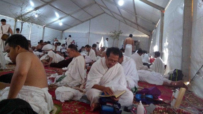 Jemaah haji Indonesia sudah berada di Arafah untuk persiapan Wukuf