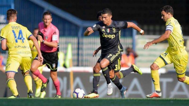 Bintang baru Juventus, Cristiano Ronaldo.