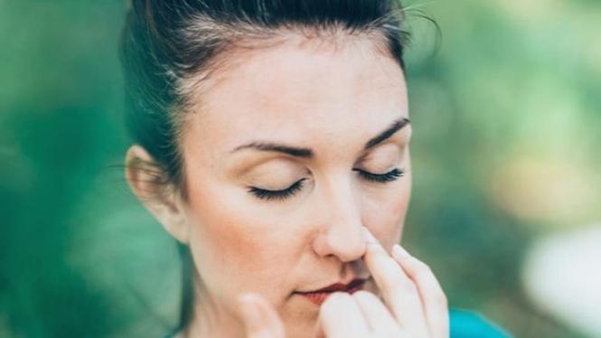 Ilustrasi penderita sinusitis.