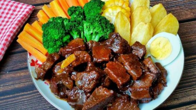 Hasil gambar untuk resep bistik kambing