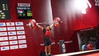 Atlet Cabor angkat besi Indonesia, Eko Yuli Triawan.