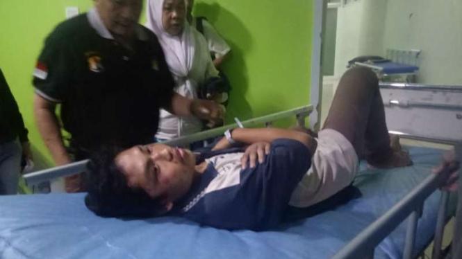 Firmansyah alias Iyan, marbut atau pengurus masjid yang dituduh mencopet.