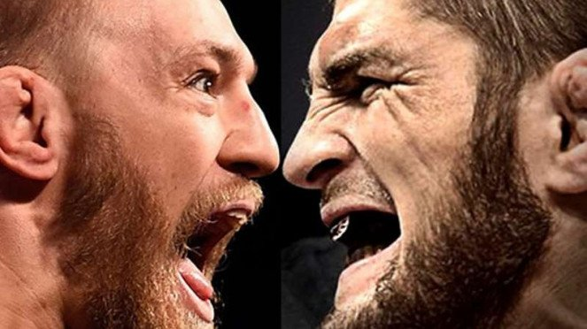 Petarung UFC, Conor McGregor dan Khabib Nurmagomedov.