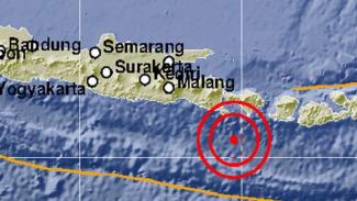 Ilustrasi Episentrum gempa di Denpasar Bali