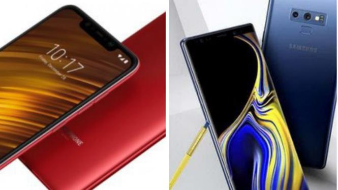Xiaomi Pocophone 1 dan Samsung Galaxy Note 9