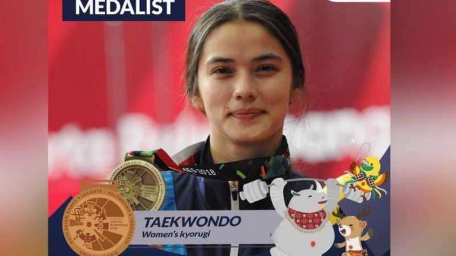 Atlet Taekwondo asal Uzbekistan, Nigora Tursunkulova.