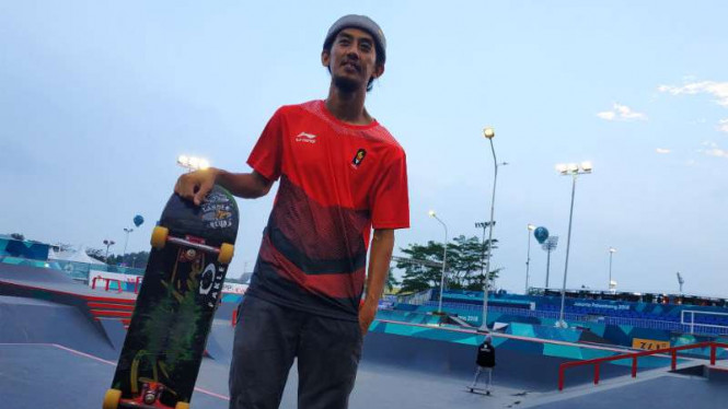 Atlet skateboard Indonesia, Pevi Permana.