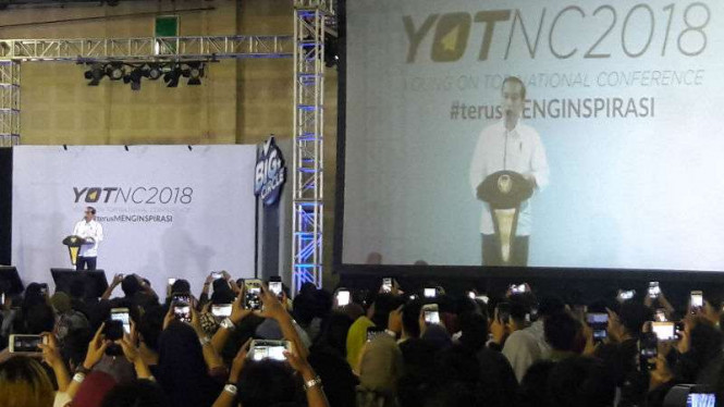 Presiden Jokowi di Young On Top   Nasional Conference (YOTNC) 2018