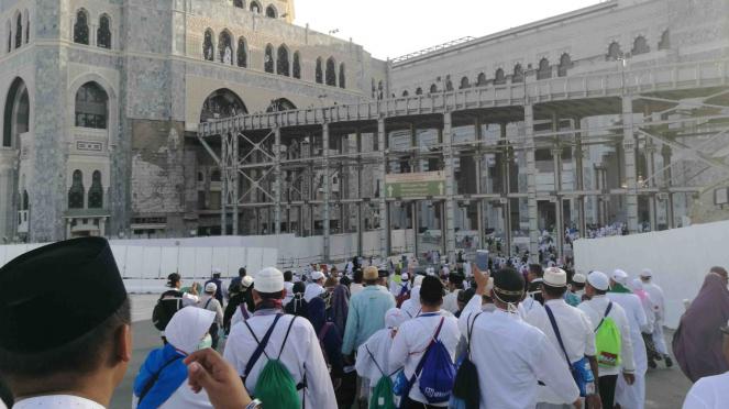 Jemaah haji dari seluruh dunia kumpul di Masjidil Haram, Mekah
