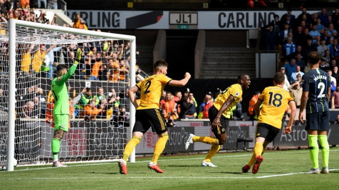 Pertandingan Wolverhampton vs Manchester City