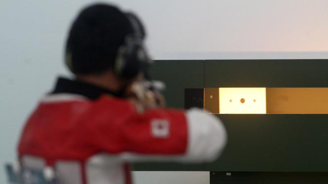 Muhammad Sejahtera Akhiri Puasa Gelar Menembak Asian Games
