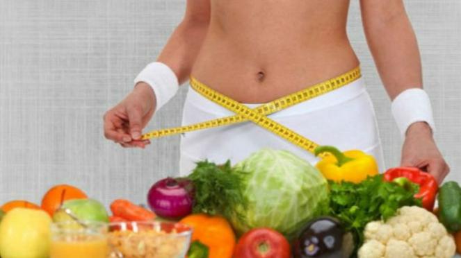 Ilustrasi makanan untuk diet.