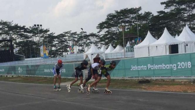 Venue Rollerskate di Jakabaring Sport City Palembang untuk Asian Games 2018.