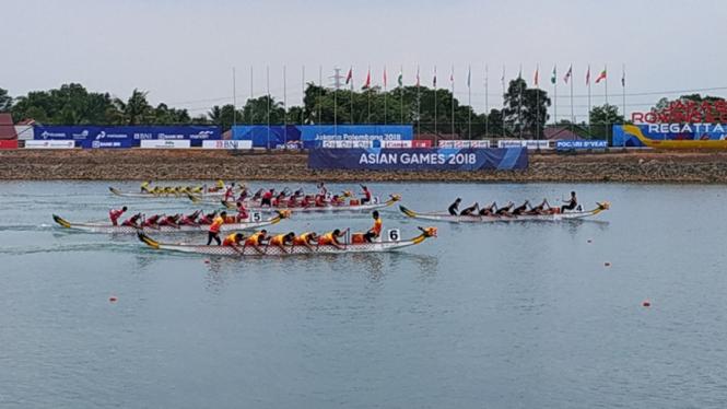 Perlombaan perahu naga di Asian Games 2018