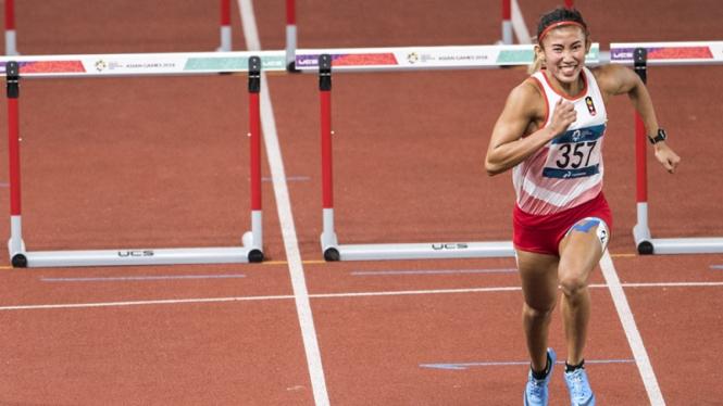 Emilia Nova turun di nomor 100 meter lari gawang Asian Games 2018