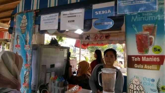 Warung bayar pakai doa di Tangerang
