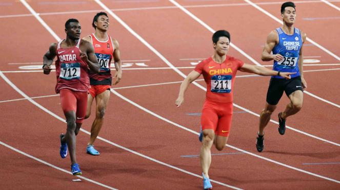 Zohri Kalah di 100 M Asian Games 2018.