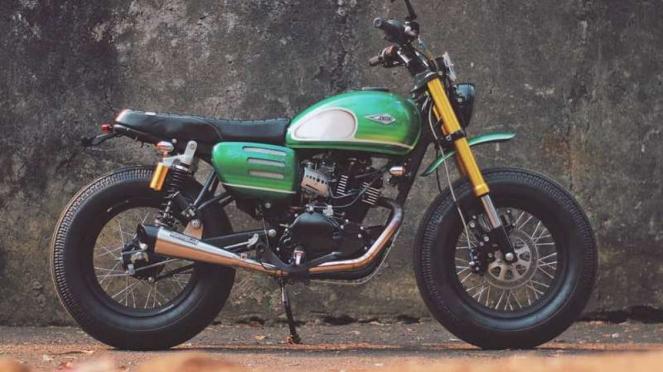 Modifikasi Kawasaki W175 milik Presiden Jokowi