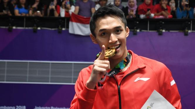 Jonatan Christie Raih Emas di Tunggal Putra Badminton Asian Games