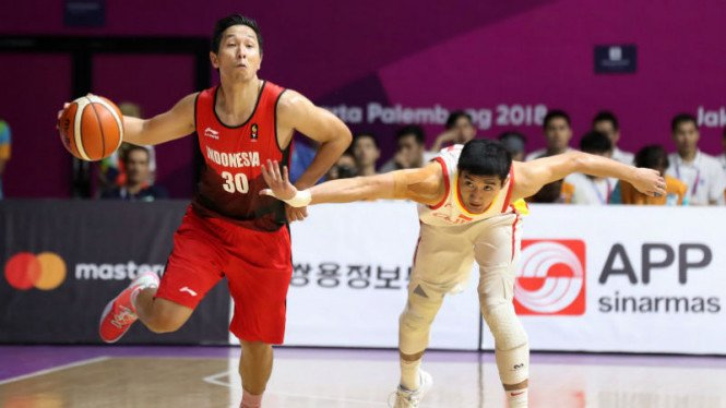 Pertandingan basket Indonesia versus China di perempatfinal Asian Games 2018