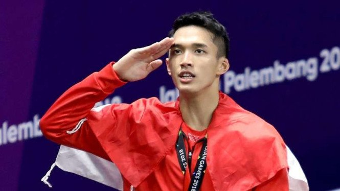 Tunggal putra Indonesia, Jonatan Christie, meraih medali emas Asian Games 2018