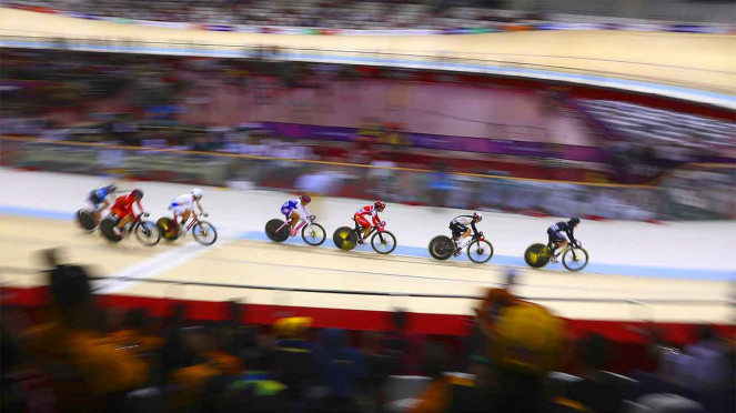 Balap Sepeda di Jakarta International Velodrome