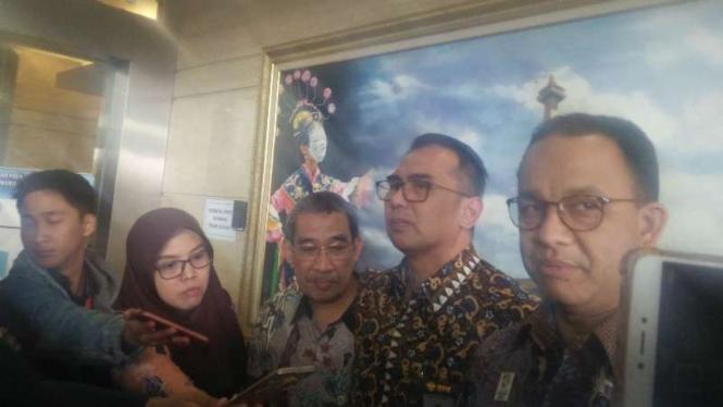 Gubernur DKI Jakarta Anies Baswedan di Kantor BPK, Jakarta.