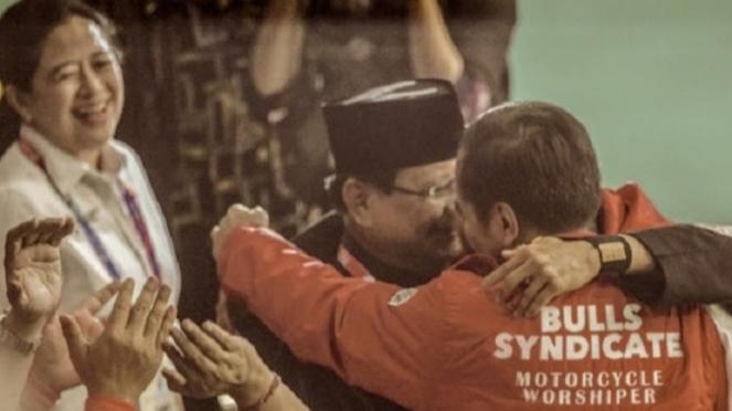 Jokowi,  Hanifan, dan Prabowo.