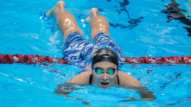 Perenang Jepang Rikako Ikee saat tampil di Asian Games 2018